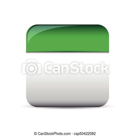 Empty Square Button Vector