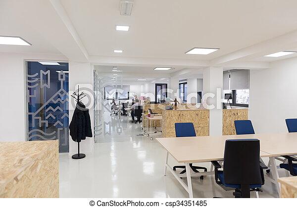 empty startup busines office interior - csp34351485