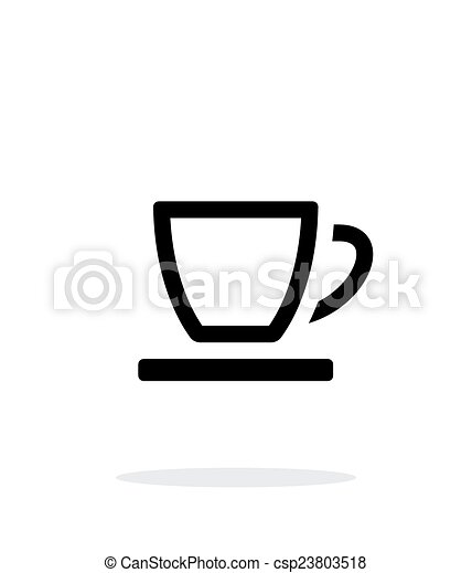 Empty tea cup icon on white background. vector illustration. vector ...