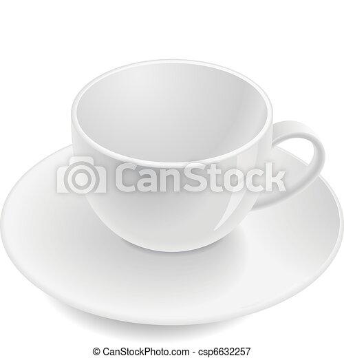 Empty teacup - csp6632257