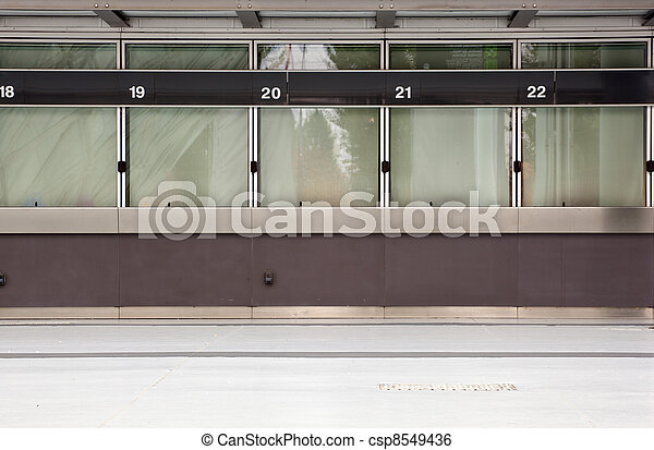 Empty ticket window - csp8549436