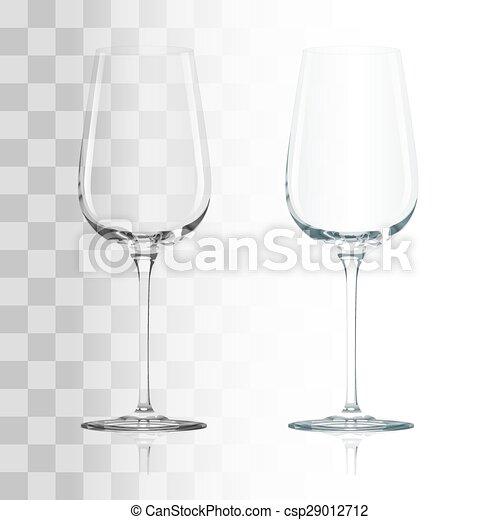 Empty transparent glass - csp29012712