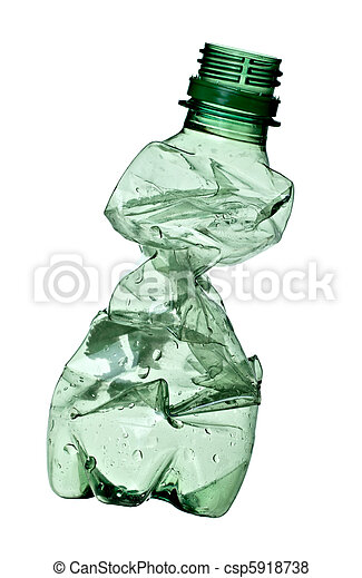 empty used trash bottle ecology environment - csp5918738