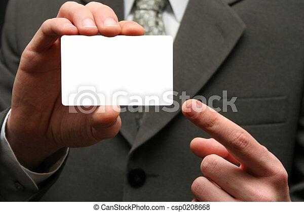 Empty visiting card - csp0208668