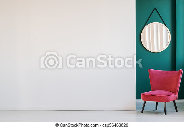 Empty wall and armchair - csp56463820
