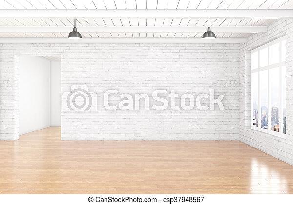Empty White Brick Wall   Csp37948567
