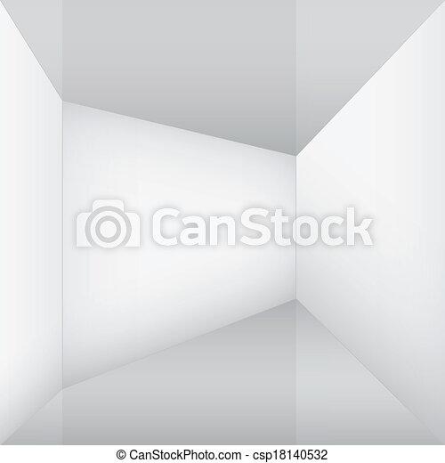 empty white room corner - csp18140532