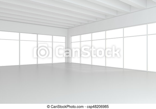 empty white room interior office 3d rendering csp48206985 office34 office