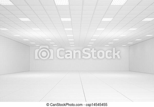 Empty white room - csp14545455