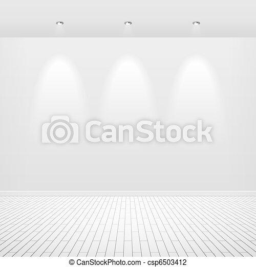Empty white wall - csp6503412