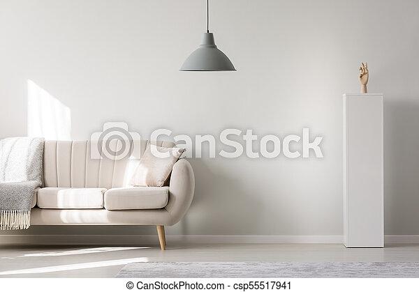 Empty white wall - csp55517941