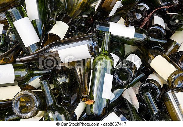 Empty wine bottles - csp8667417