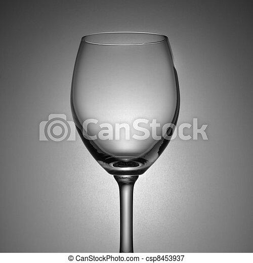 Empty wine glass - csp8453937
