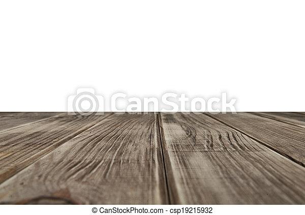 empty wooden table top - csp19215932