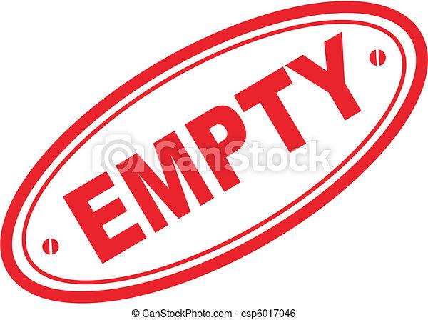 Empty Word Stamp Empty In Vector Format