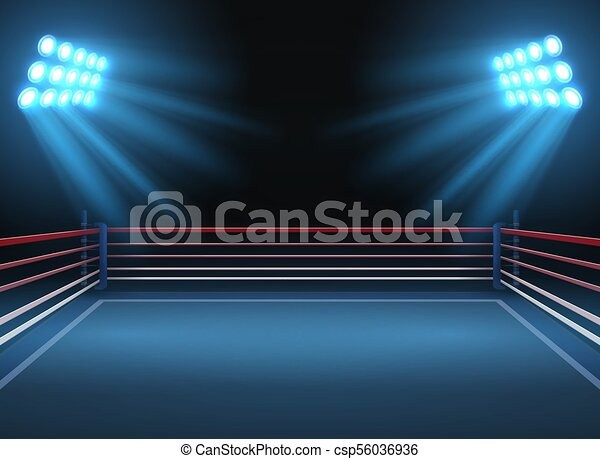 empty wrestling sport arena boxing ring dramatic sports vector