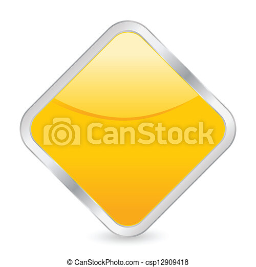 empty yellow square icon - csp12909418