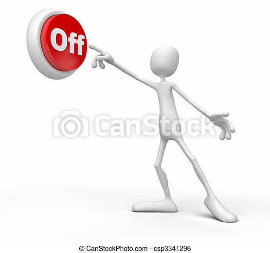 La persona pulsa el botón - csp3341296
