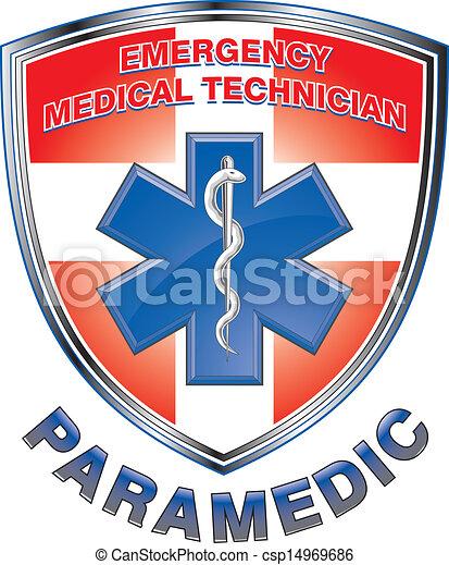 emt, monde médical, conception, bouclier, infirmier - csp14969686