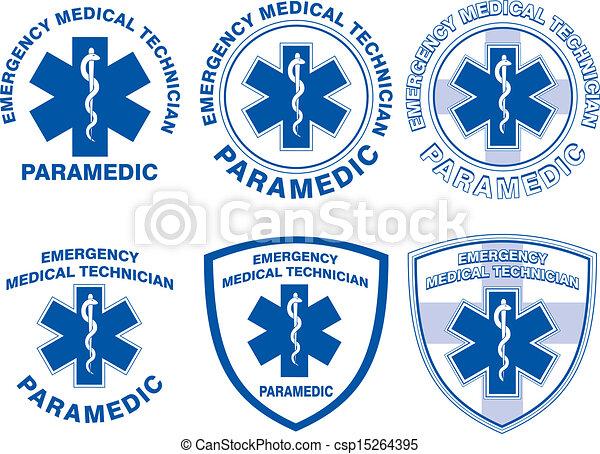 emt paramedic medical designs illustration of six emt or