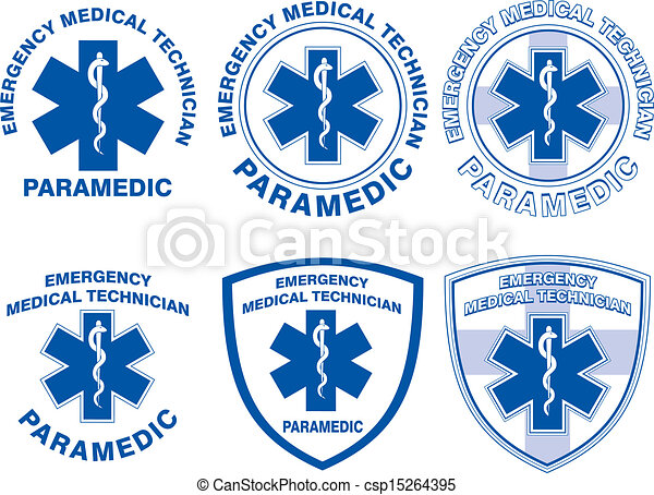 EMT Paramedic Medical Designs - csp15264395