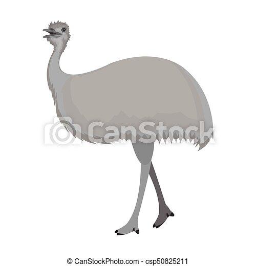 Emuafrican シンボル Web 鳥 イラスト ダチョウ 単一 ベクトル
