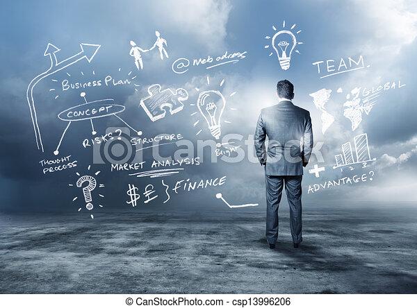 en avant!, planification, business - csp13996206