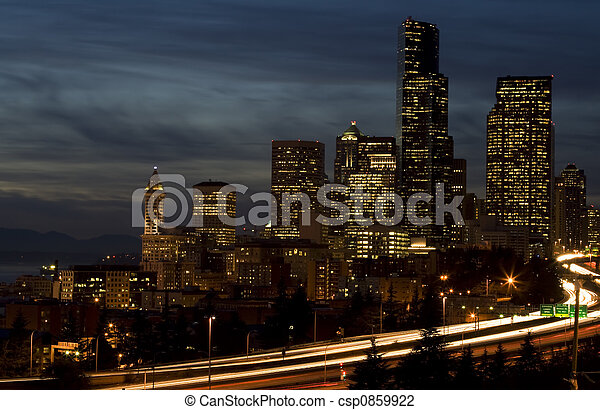 en ville, seattle - csp0859922