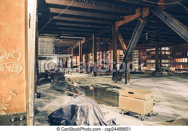en ville, site construction - csp24488651