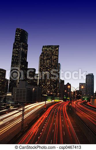 en ville, trafic - csp0467413
