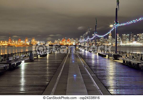 en ville, vancouver, port - csp24338916