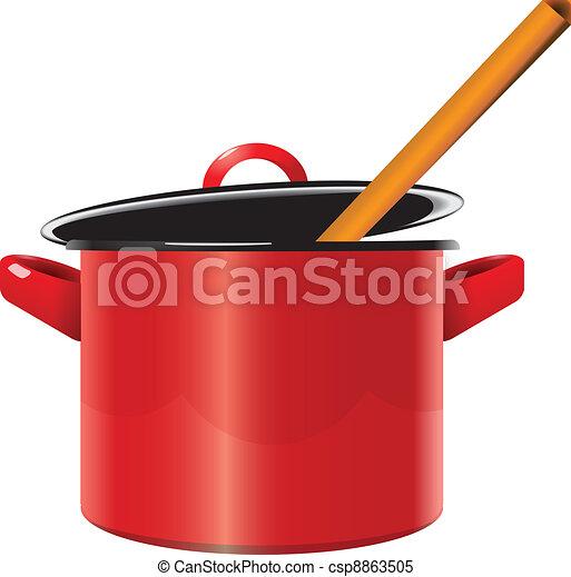 Enameled saucepan - csp8863505