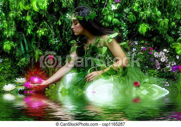 encantado, jardín - csp1165287