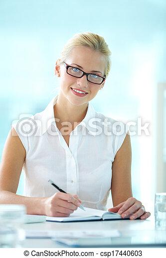 encantador, secretária - csp17440603