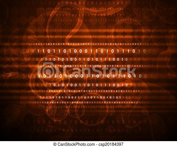 Figuras brillantes y círculos. Antecedentes de alta tecnología - csp20184397