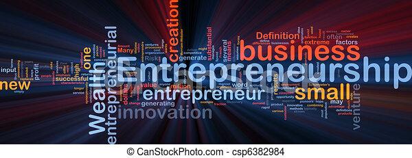 El concepto de fondo empresarial brilla - csp6382984