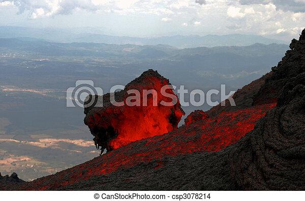 Lava resplandeciente - csp3078214