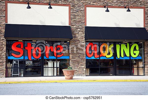 encerramento, ir, loja, negócio, saída - csp5762951