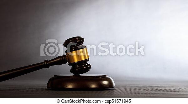 enchère, sombre, marteau, fond, juge, ou - csp51571945
