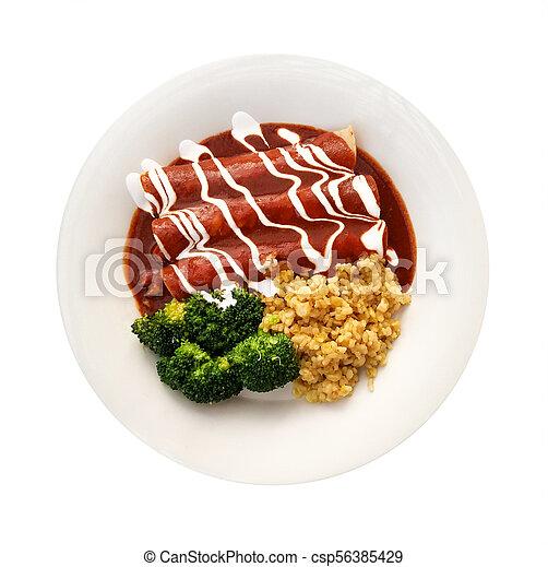 Enchiladas in Red Sauce - csp56385429