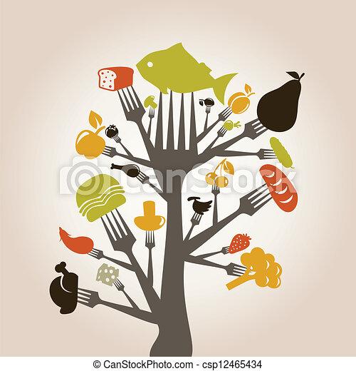 enchufe, comida - csp12465434