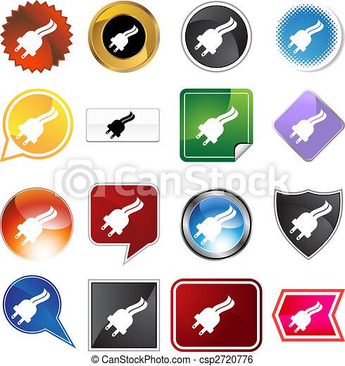 Un icono de tapón listo - csp2720776