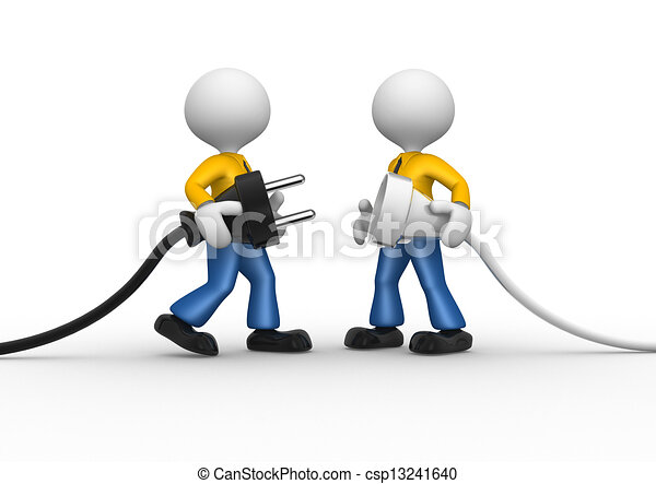 Enchufe eléctrico - csp13241640