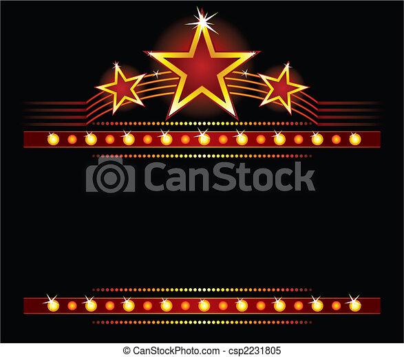 Estrellas sobre el espacio de copiado - csp2231805