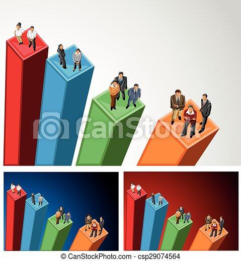 Gente de negocios por encima - csp29074564