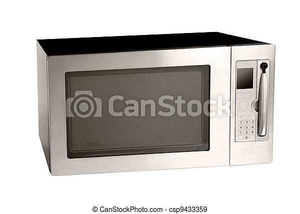 Un horno de microondas sobre blanco - csp9433359