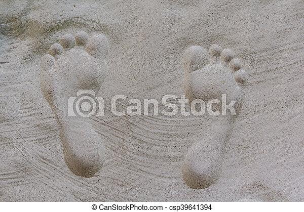 encombrements, sable, humain, formé - csp39641394
