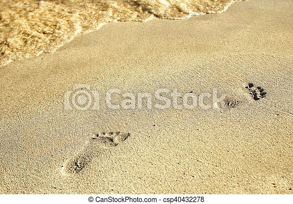 encombrements, sable - csp40432278