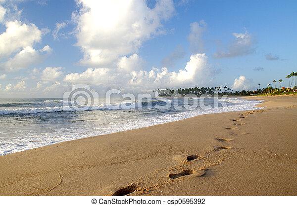 encombrements, sable - csp0595392