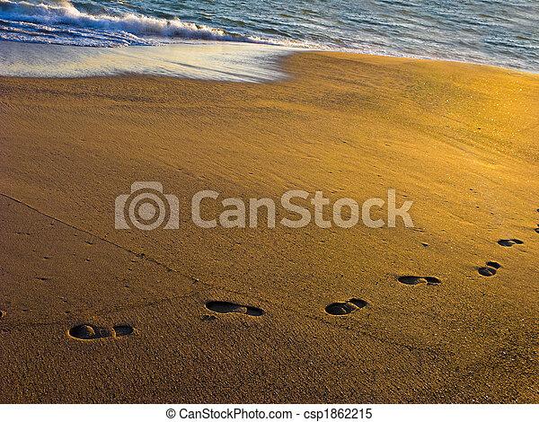 encombrements, sable plage - csp1862215